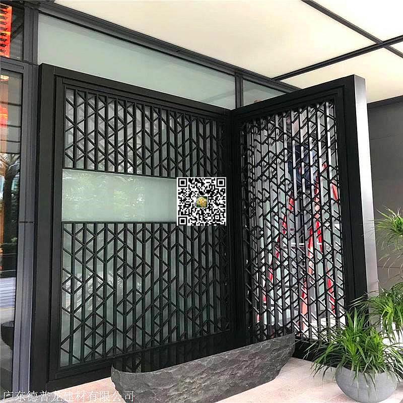 建筑装潢铝窗花-型材扁管拼接铝花格