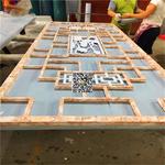 玻璃防护框铝花格-镂空雕刻铝花格