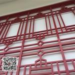 浙江杭州咖啡色铝管格栅窗花