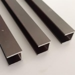 黑色烤漆铝槽 6063氧化槽铝型材