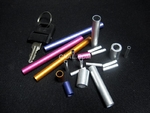彩色氧化6061/T4氧化彩色铝棒/铝管