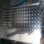 1060防滑铝板 亮面五条筋花纹铝板