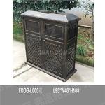 双桶垃圾桶 庭院环保垃圾桶 金属