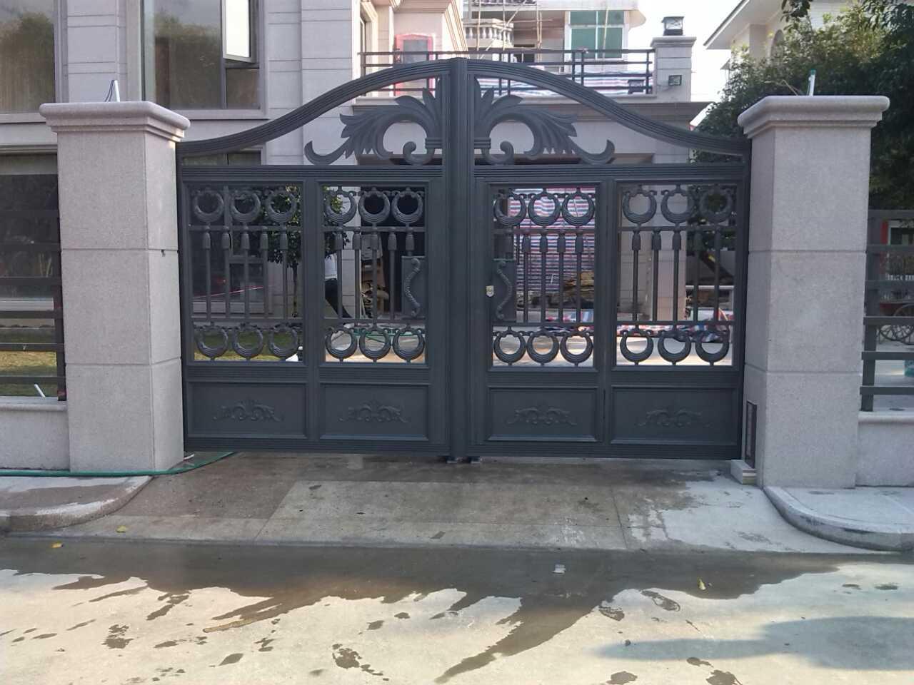 铸铝庭院别墅大门,花园大门,花园围栏,围墙围栏工程,罗马铸铝别