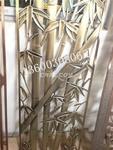 拉丝古铜铝板镂空花格屏风制作厂家