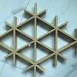 三角型鋁格柵  木紋鋁格柵天花吊頂