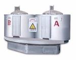 坩堝熔化保溫爐可旋轉雙爐同時作業