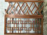 建材装饰仿古木纹铝窗花