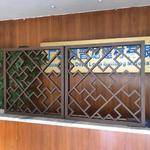 中式鋁雕花格窗花隔斷門窗