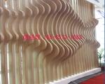 墙身隔断凹凸弧形铝方通指定制作厂