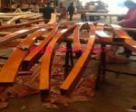 半弧弯曲线橡木纹色铝方管新模具