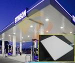 加油站哑光白铝条扣-防风条型铝板