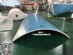 浅蓝三色包柱铝单板'UV彩绘'加工厂