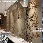 宾馆背景墙深金色雕刻铝单板_2厘厚