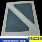 雙色噴繪三角形鋁板(微孔 衝孔)