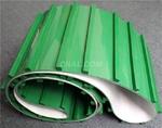 双面绿色花纹橡胶输送带打钢扣