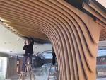 弧形波浪型鋁單板吊頂裝飾