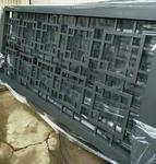 深灰色喷涂铝窗花厂家