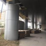 钢架柱子包柱圆形铝单板,氟碳喷涂