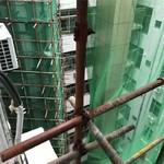日立电梯加装电梯井道钢架铝单板