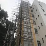 广日旧楼加装电梯井道钢架铝单板