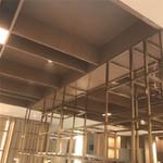 酒店大堂吧臺背景藝術裝飾鋁格柵