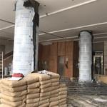 酒店室大堂裝修柱子裝飾弧形鋁單板