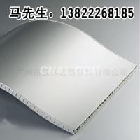 白色蜂窝板隔断 冲孔铝单板白色