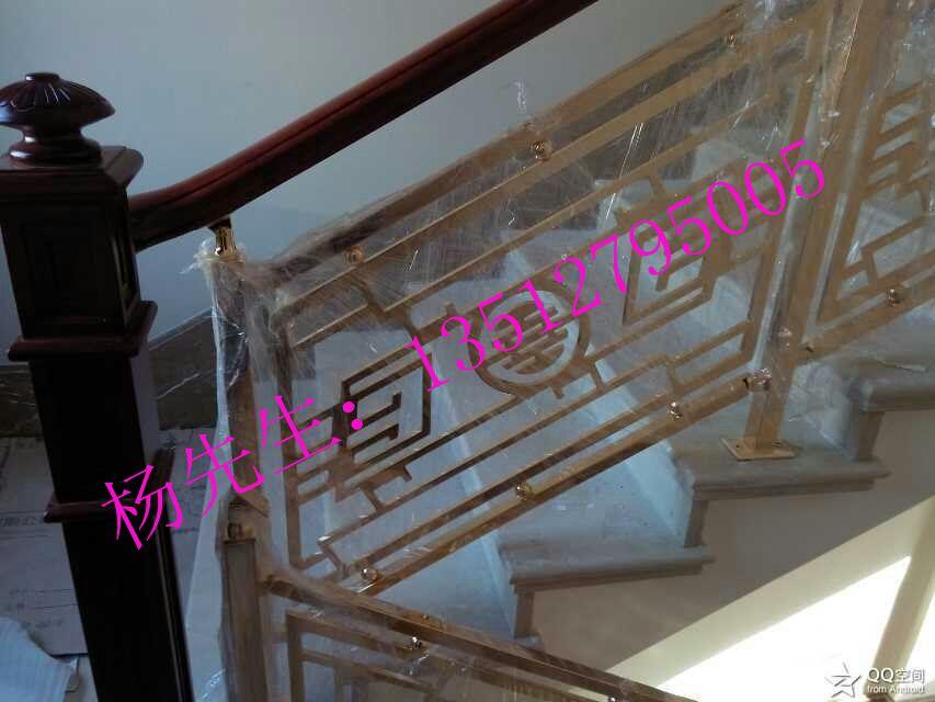 雕刻铝艺楼梯扶手护栏