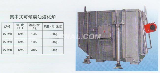 集中式可倾燃油熔化炉