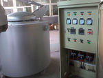 500KG鋁液保溫爐、圓形電阻加熱爐