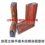 立体刨花手感木纹铝型材