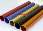 供应彩色阳极氧化铝管切割加工