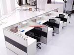 生产喷涂白色办公室屏风铝合金型材