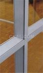 生产供应铝合金隔断门窗建筑铝型材