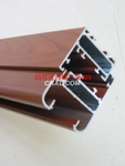 供应各种系列隔热断桥木纹铝型材