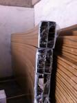 條形間隔手感木紋型材擠壓啞光佛山鋁合金扶手廠家