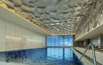 磨砂/拉丝纯色/单色钛金定制图案饭厅造型吊顶图片大全