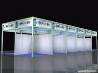 環保展覽鋁型材 四方柱展架出租