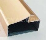 金色晶钢门铝材