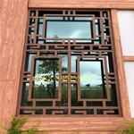 酒店外墙装饰防盗复古铝合金花格窗
