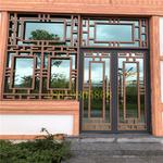 定制型材铝窗花/仿木纹铝合金窗花