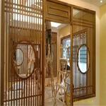 中式園林建設倣古鋁合金窗花格定制