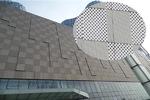 商场用造型弧形铝单板装饰美观特点