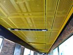 电影院门头凹凸铝单板-木纹长城板