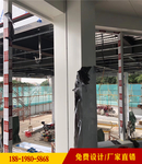 中石油站防风铝条扣-包柱铝板装饰