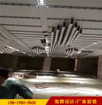 旧商场改造木色铝方管装饰定制规格