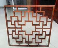 美術館裝修中式鋁合金花格窗量身定制