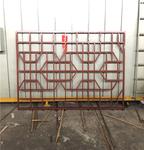 厂家专业定制仿木纹铝窗花规格可定制