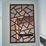 售楼部门头隔断中式铝合金花格窗经久耐用